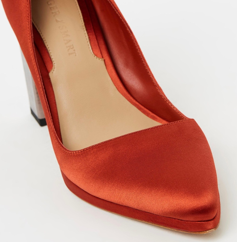 Ginger and smart glitch high heel pump