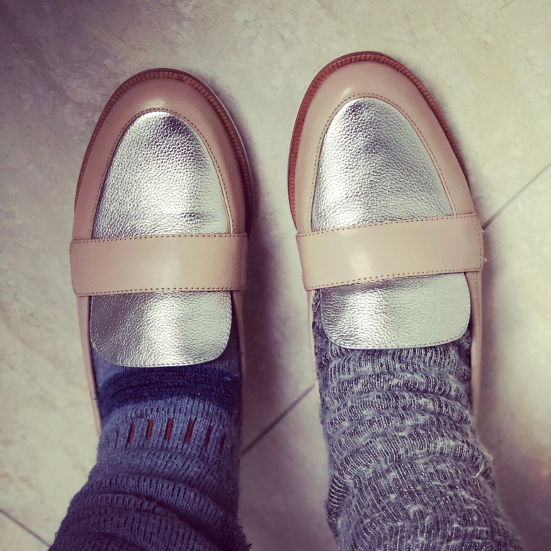 Mi Piaci Blush & Silver Leather Brogues // Flat Shoes // Leather Shoes