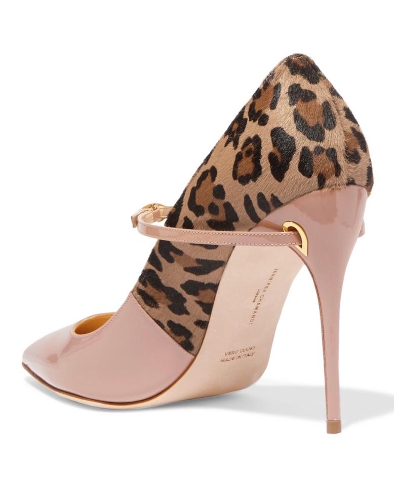 Jennifer Chamandi animal print shoes, net a porter