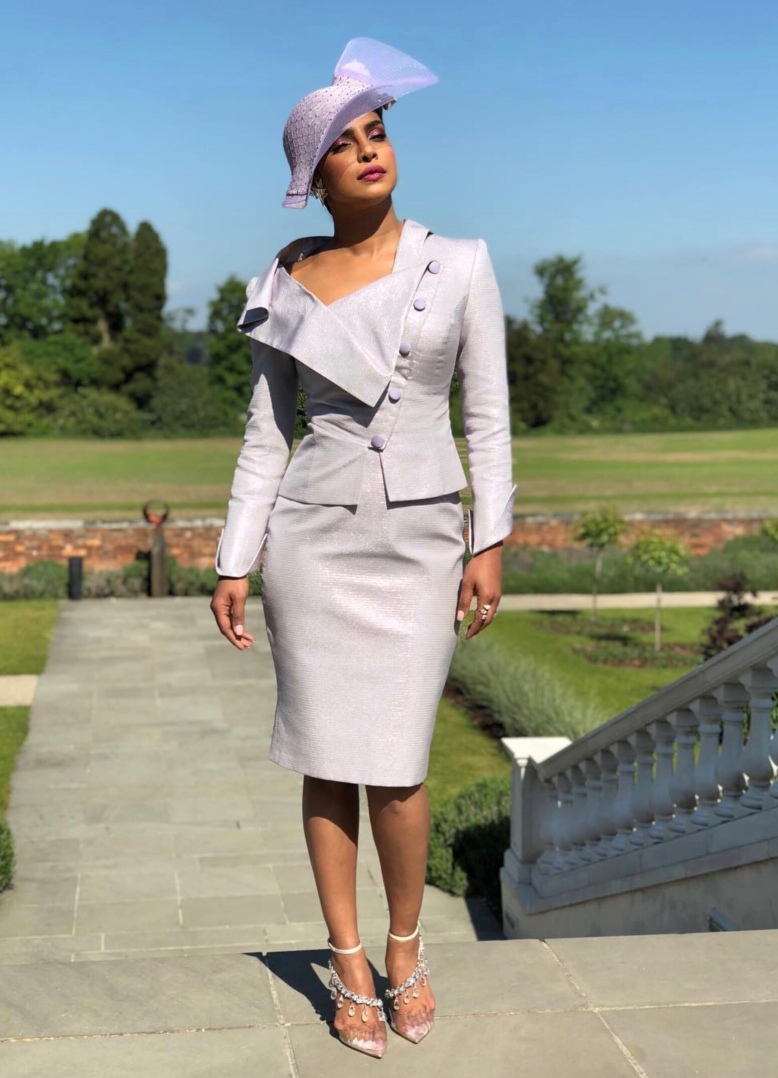 Royal Wedding 2018 - Best Shoes on Show - Priyanka Chopra, Lavender Beaded High Heeled Shoes
