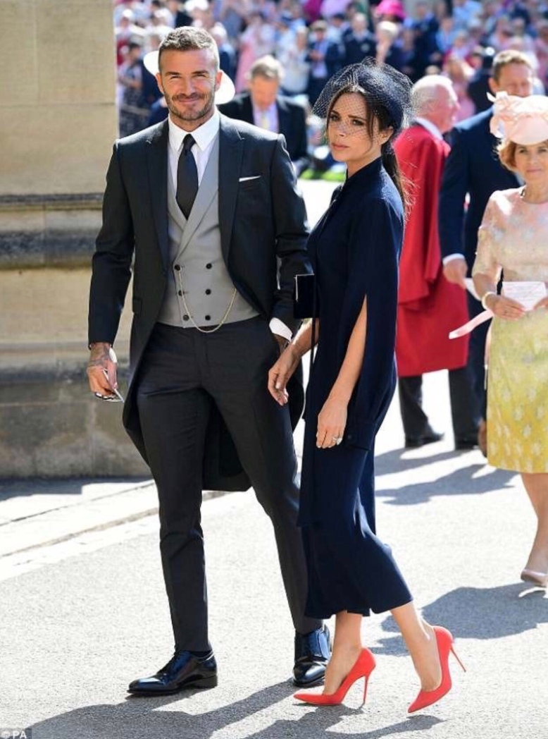 Royal Wedding 2018 - Best Shoes on Show - Victoria Beckham , Bright Orange High Heeled Shoes