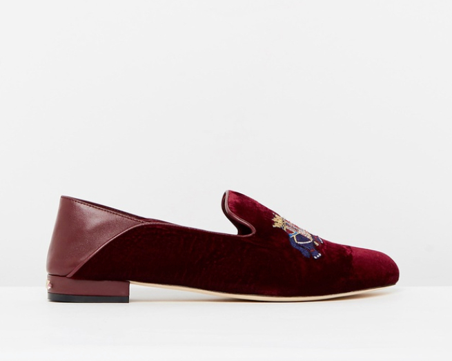 the iconic -  Camilla - Velvet Slipper with Folded Heel